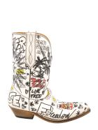 Golden Goose Wish Star Low Boots - White
