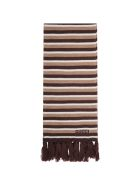 Gucci Multicolor Scarf For Kids With Logo - Beige