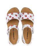 Monnalisa Strawberry Sandals - Bianco/rosso