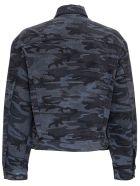 Balenciaga Gray Camouflage Denim Jacket - Grey