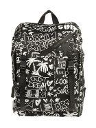 Golden Goose Journey Backpack Printed Nylon Body - Nero