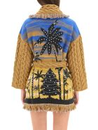 Alanui Icon Jacquard Snoopy Palms Cardigan - Multicolor