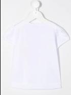 Il Gufo Newborn White T-shirt With Parrot Print