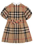Burberry Barbara Vintage Check Cotton Dress - Beige