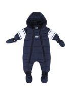 Hugo Boss Blue Overall For Baby Boy - Blue