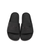 Balmain Unisex Kid Black Slippers With Logo
