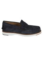 Tod's Exposed Stitching Logo Stamp Loafers - Blue