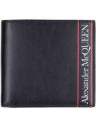Alexander McQueen Leather Flap-over Wallet - Black/red
