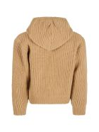 The New Society Beige ''easy'' Sweater For Kids - Brown