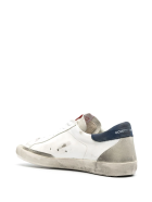Golden Goose Man White Super-star Sneakers With Suede Star And Back Patch