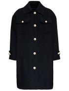 Dolce & Gabbana Black Bouclè Wool Coat - Black