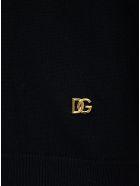 Dolce & Gabbana Black Cashmere Sweater With Logo - Black
