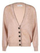 Brunello Cucinelli V-neck Buttoned Cardigan - Beige