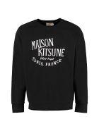 Maison Kitsuné Palais Royal Cotton Sweatshirt - black