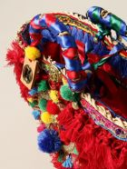 Sikuly Handbag Red Melania Sikuly Coffa Bag With Multi Tassels - Multicolor