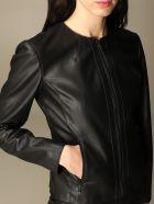 Armani Collezioni Armani Exchange Jacket Armani Exchange Jacket In Synthetic Leather - Black