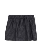 Fendi Buttoned Printed Skirt - black