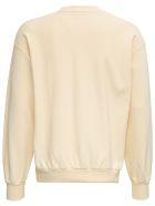 Aries Beige Jersey Sweatshirt With Logo Print - Beige