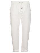 Brunello Cucinelli White Cotton Trousers - White