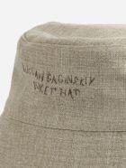 Ruslan Baginskiy Linen Fisherman Hat With Embroidered Logo - Beige