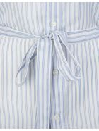 Balenciaga Woman Striped White And Blue Shirt With Belt - White/blue