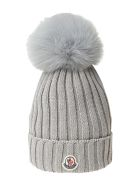 Moncler wool knit hat - Grigio
