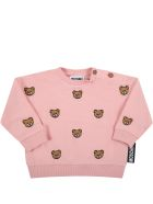 Moschino Pink Tracksuit For Baby Girl - Pink