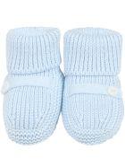 Little Bear Light Blue Baby Bootee For Babyboy - Light Blue