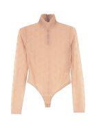 Fendi Embroidered Tulle Bodysuit - Pink