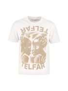 Telfar Printed Cotton T-shirt - White