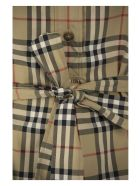 Burberry Giovanna - Stretch Cotton Chemise Dress With Vintage Check Pattern And Belt - Archive Beige
