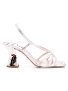 Ras 'tinny' Leather Sandals - Silver