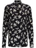 Saint Laurent Floral Silk Shirt - Noir Craie