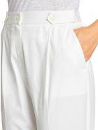 Kiton Trousers Cotton - WHITE
