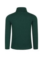 Gucci Green Turtleneck For Kids With Logo - Green