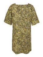 Givenchy Short Dress With Print And Square Neckline - Black/yellow