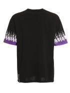 Vision of Super Tshirt Purple Double Flames - Black