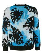 MSGM V-neck Buttoned Cardigan - Blue/Black