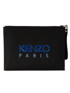 Kenzo Tiger Document Holder Clutch - Black