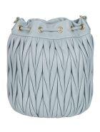Miu Miu Matelassé Bucket Bag - Cielo
