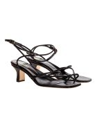 Paris Texas Betty Buckle Strappy Sandals - Charcoal