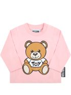 Moschino Pink T-shirt For Baby Girl With Teddy Bear - Pink