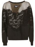 Dolce & Gabbana Floral Lace Sweater - Black