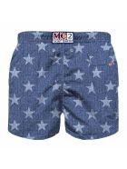 MC2 Saint Barth Blue Star Boy Swim Trunks