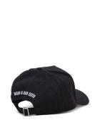 Dsquared2 Black And White Cotton Icon Hat - White/black
