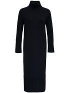 Antonelli Penguin Long Black Wool And Silk Dress - Black