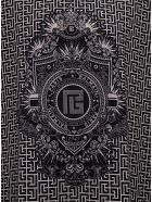 Balmain Oversize T-shirt With Monogram Print - Black