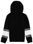 Givenchy White And Black Cotton Hoodie With Logo - Black