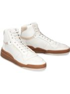 Saint Laurent Sl24 Leather High-top Sneakers - White