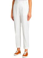 Kiton Trousers Cotton - WHITE